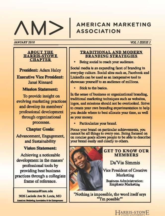 AMA E-Letter Issue 1